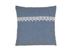 rené polštář povlak modré pepito s krajkou