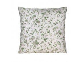 rococo polštář povlak zelený květ