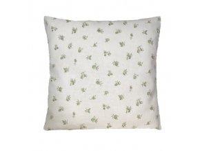 rococo polštář povlak zelený kvítek