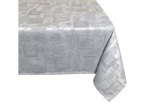 ubrus vánoce stříbro lurex vzor