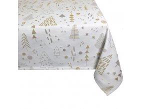 ubrus vánoce tree gold