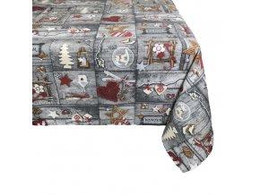 ubrus vánoce patchwork tisk
