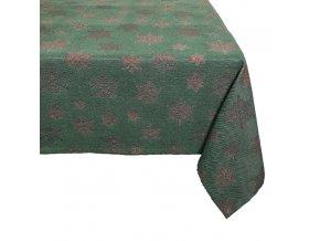 ubrus vánoce vločka hrubá zelená
