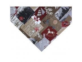 napron vánoce tisk mix