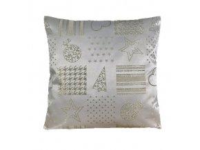 polštář povlak vánoce zlato patchwork