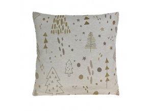 polštář povlak vánoce tree gold