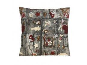 polštář povlak vánoce patchwork tisk