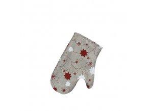 chňapka vánoce hvězda lurex červená