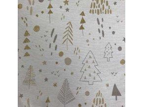 ZDEKOR běhoun vánoce tree gold90x40cm (rozměr 90x40)