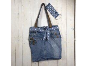 kabelka jeans