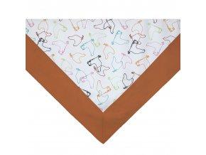 ZDEKOR napron=středový ubrus LEM slepice colour90x90cm (rozměr 90x90)