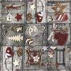 středový ubrus = napron vánoce patchwork tisk