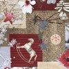 středový ubrus = napron vánoce mix tisk