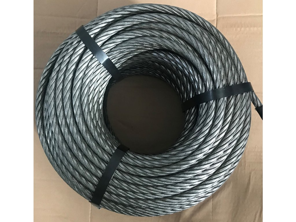 Válcované ocelové lano 10 mm/50 m