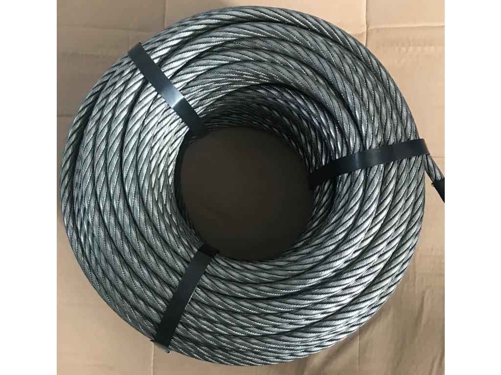 Válcované ocelové lano 12 mm/70 m