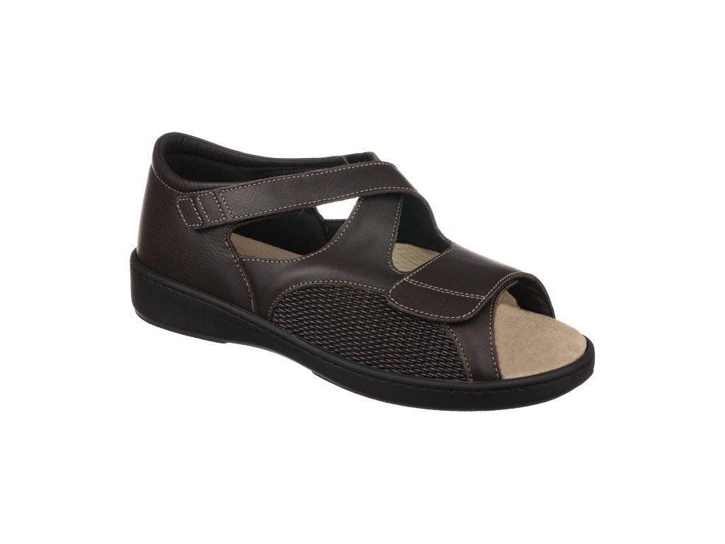 AWELL zdravotní sandál hnědá PodoWell