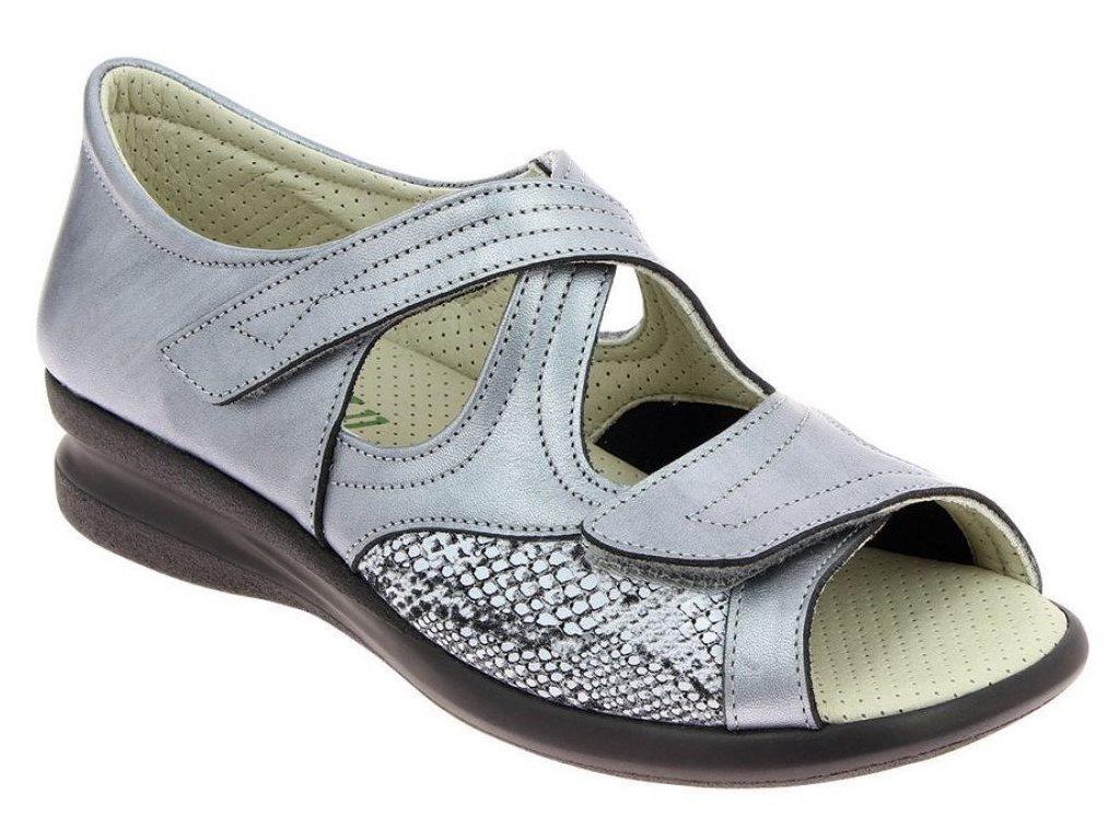 MAIWEN zdravotní sandál stříbrná PodoWell 1