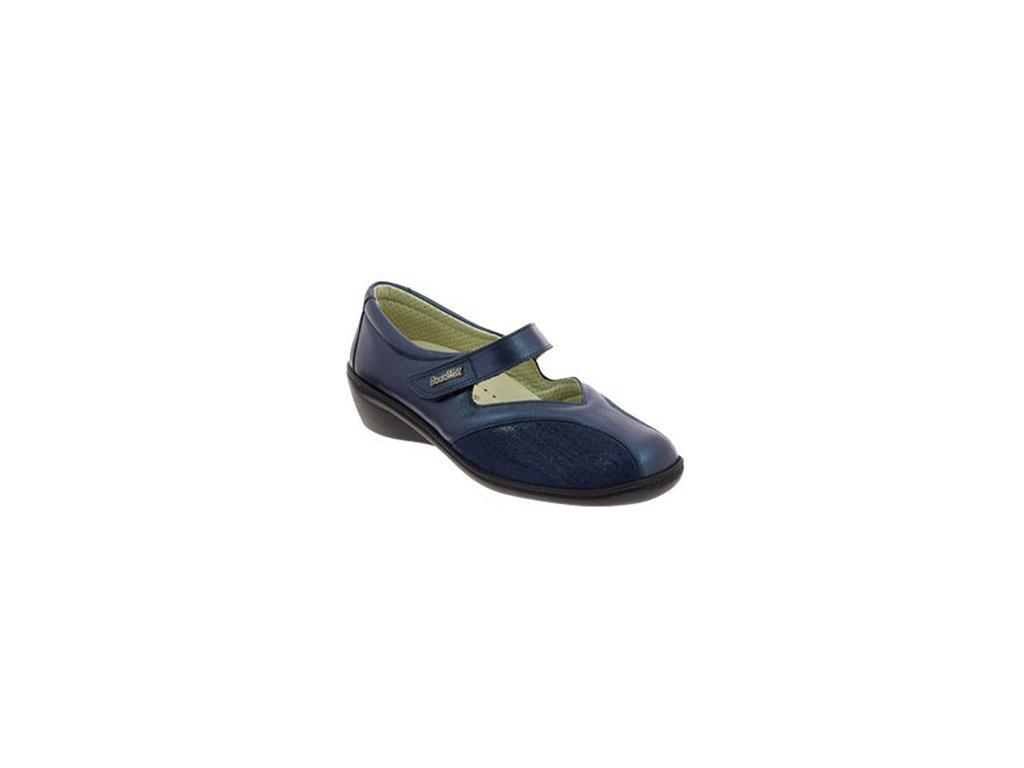 STADIA strečová dámská obuv pro halluxe a kladívkové prsty modrá PodoWell