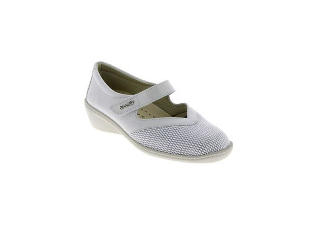 SONIA strečová dámská obuv pro halluxe a kladívkové prsty perleťová PodoWell