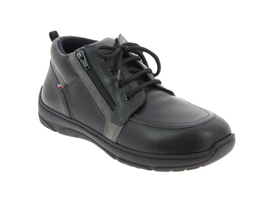 OCTAVIO pánská diabetická kotníková obuv černá PodoWell