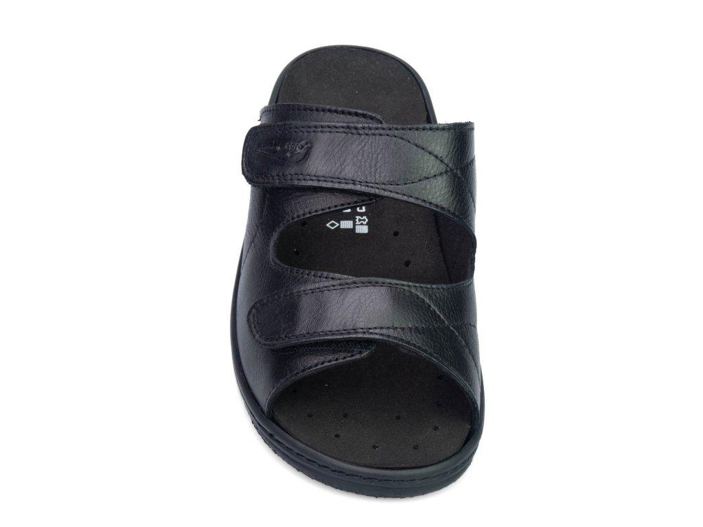 NAZARÉ BE311 pantofle pro širokou nohu dámské černé Nursing Care(1)