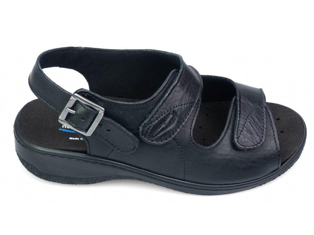 MOLEDO sandálek pro širokou nohu dámské černé BE511 Nursing Care