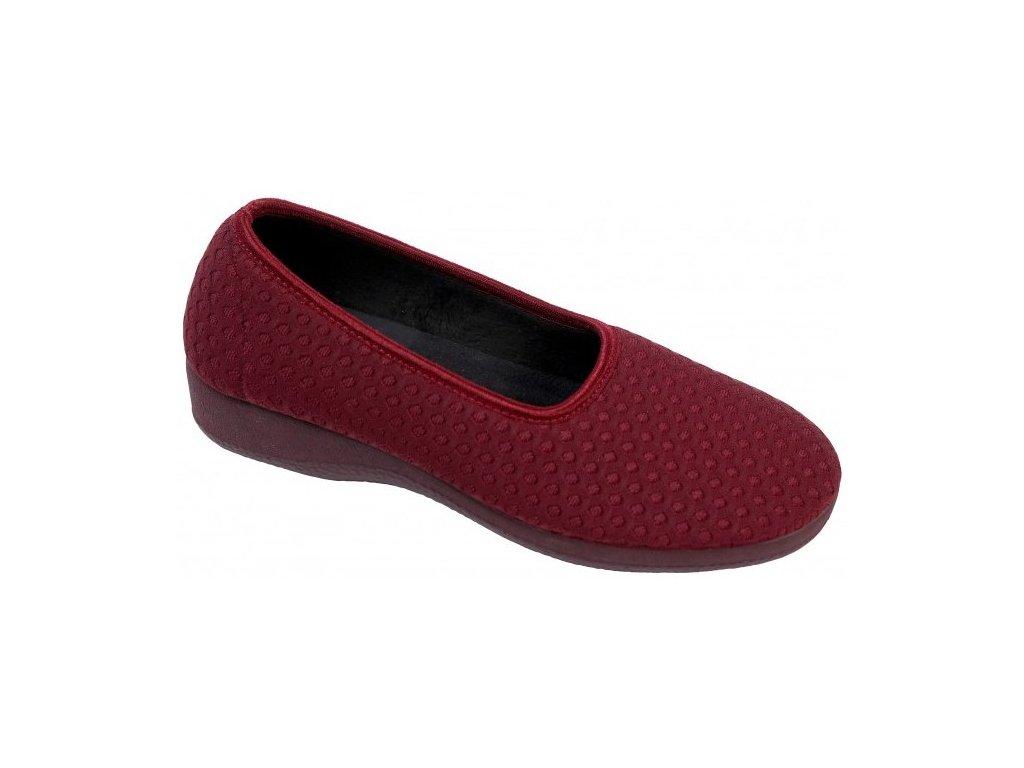 PISTACIO elastická obuv dámská bordová O6954 18 Nursing Care 3