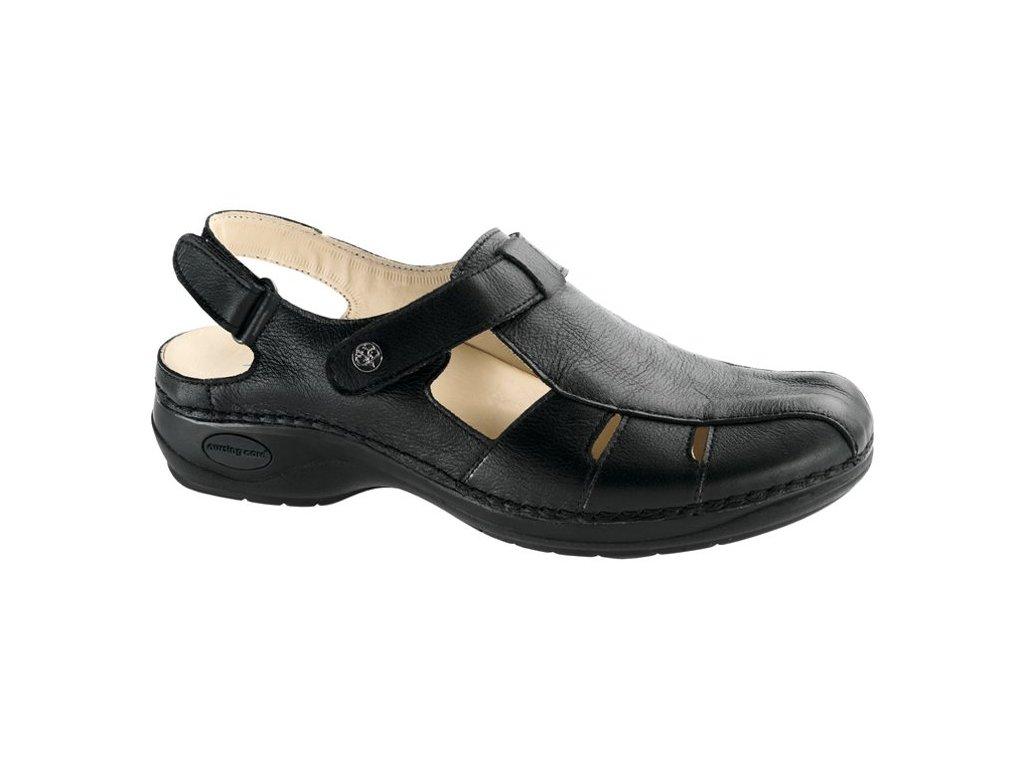 MARTINICA zdravotní sandál s plnou špicí dámský černý C1211 Nursing Care