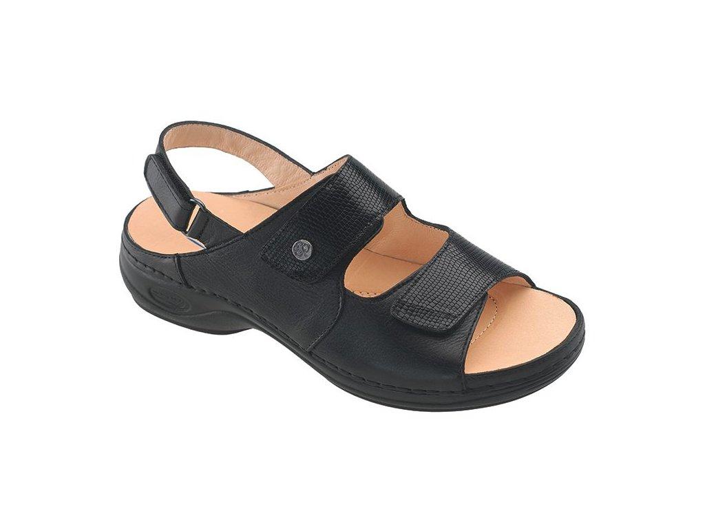 JAMAICA zdravotní sandál černý C9G11 Nursing Care 2