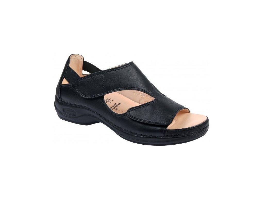 BERMUDA zdravotní sandálek dámský černý C3511 Nursing Care 3