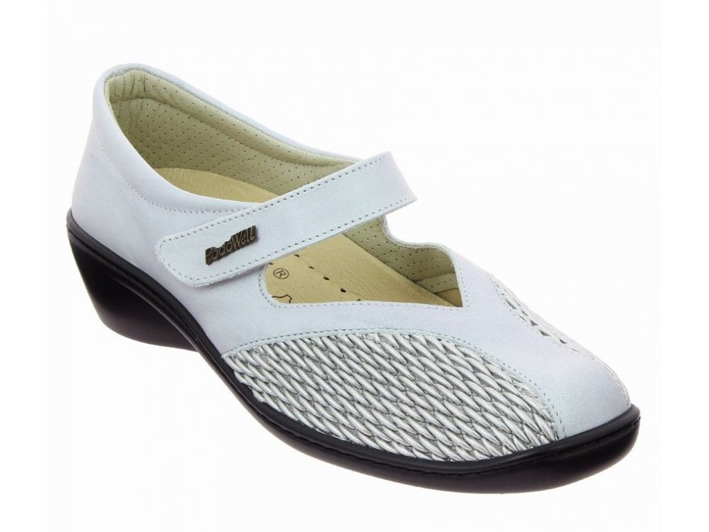 SAGA zdravotní halluxová obuv dámská bílá PodoWell 1