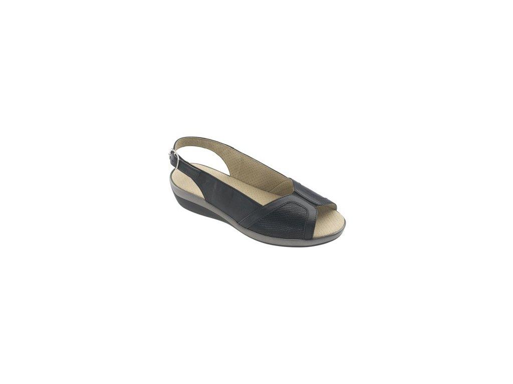 CANCÚN zdravotní sandálek dámská černá C21G11 Nursing Care