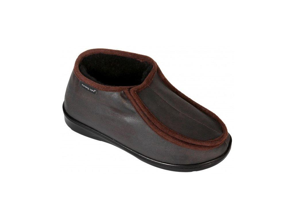 SABUGUEIRO zdravotní obuv pro oteklé nohy unisex hňedá zateplená WW102 Nursing Care 2