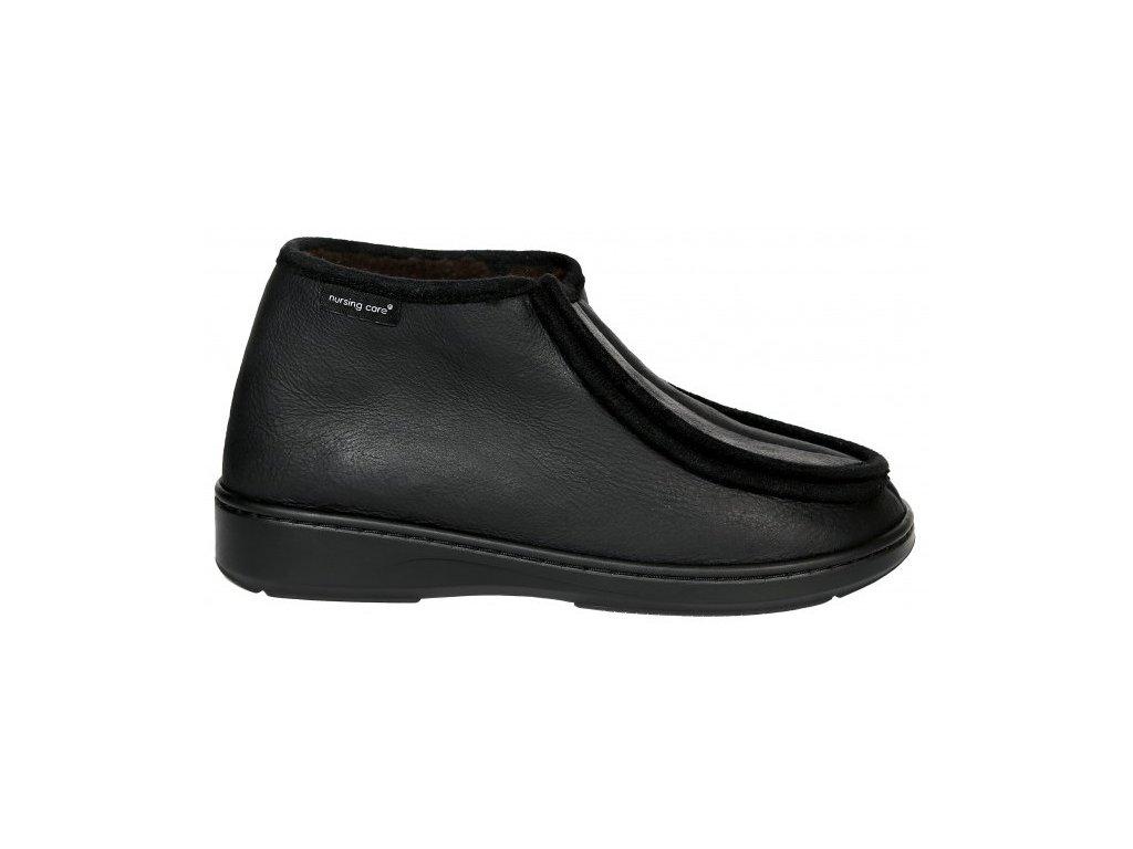 SABUGUEIRO zdravotní obuv pro oteklé nohy černá zateplená WW111 Nursing Care 1