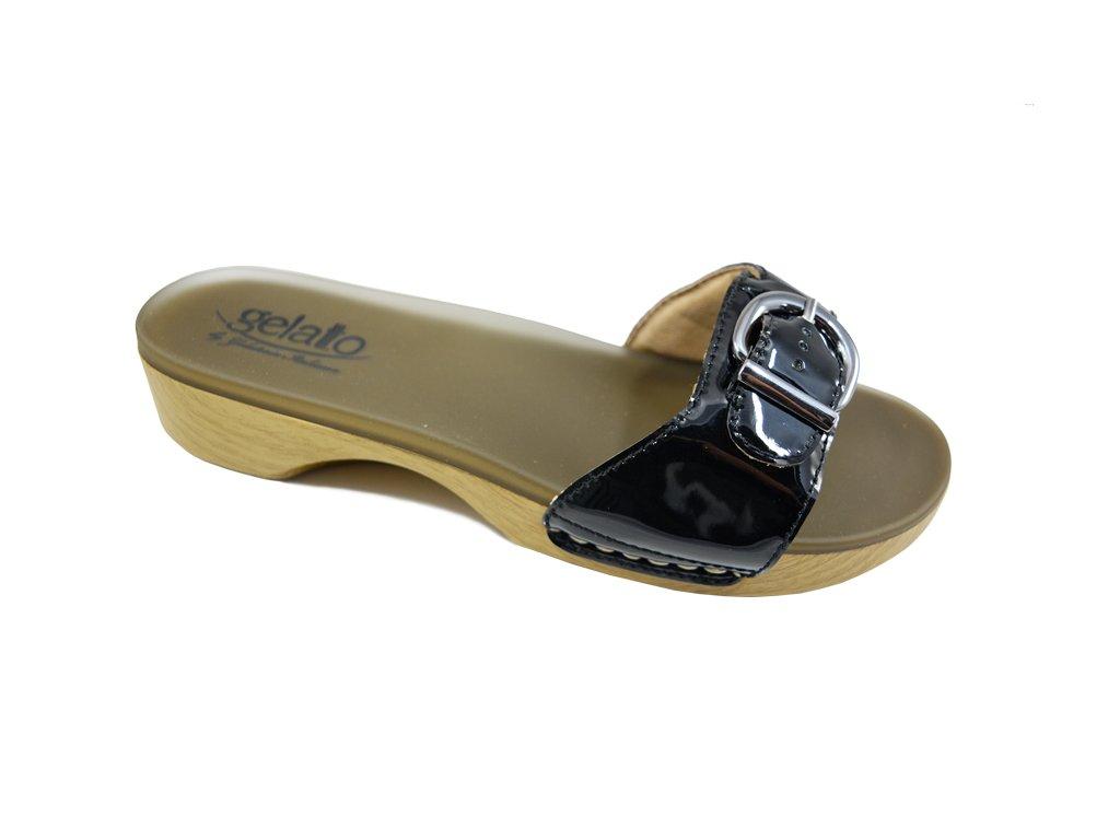 SOLE MIO zdravotní pantofle dámská černá PodoWell
