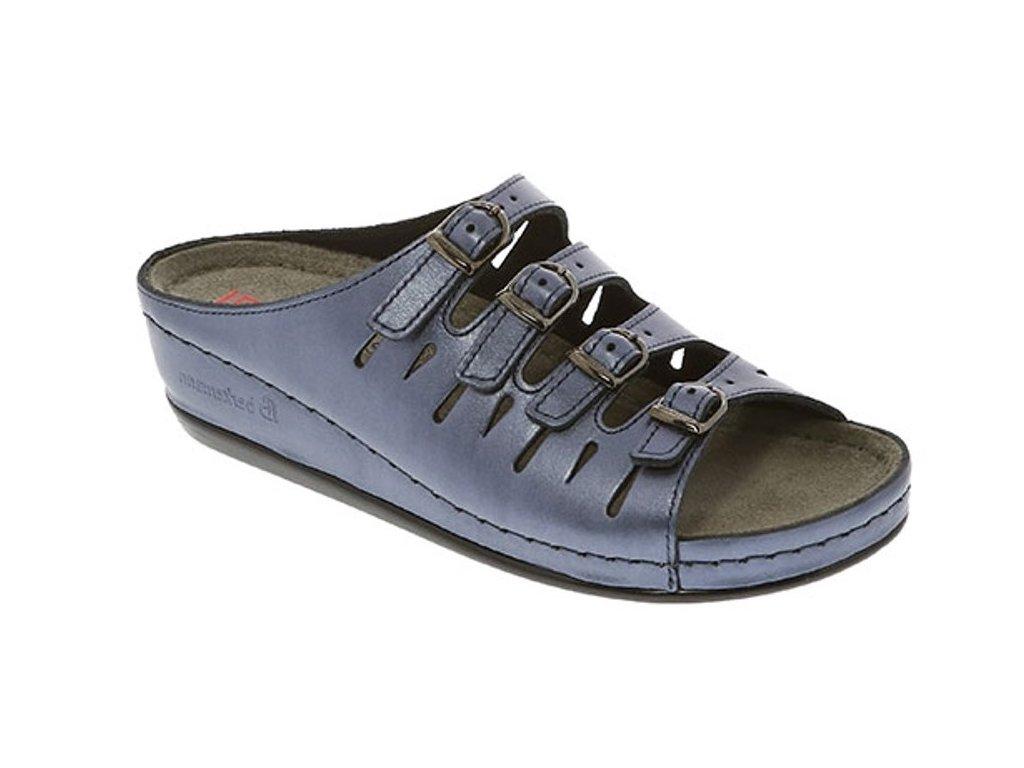 HASSEL 00737 364 zdravotní pantofle dámská modrá Berkemann 1