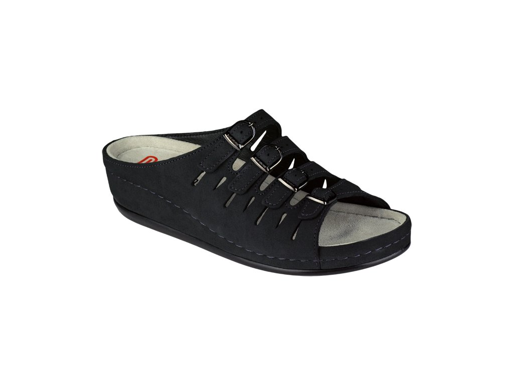 HASSEL 00737 320 zdravotní pantofle dámská tmavě modrá Berkemann 1