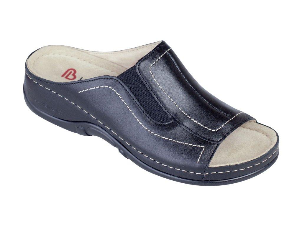 ISABELLA zdravotní pantofle dámská černá Berkemann