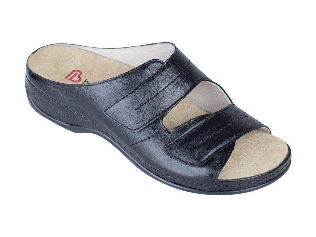 FEDORA zdravotní pratelná pantofle dámská černá kůže Berkemann