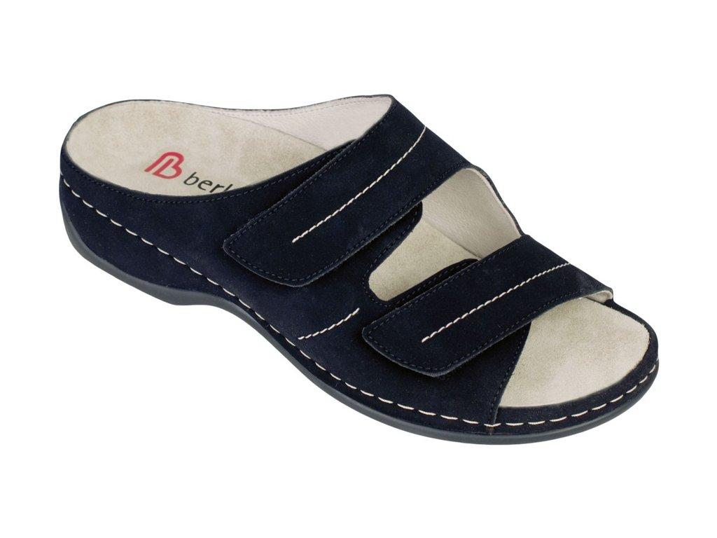 FEDORA zdravotní pratelná pantofle dámská černá mikronubuk Berkemann
