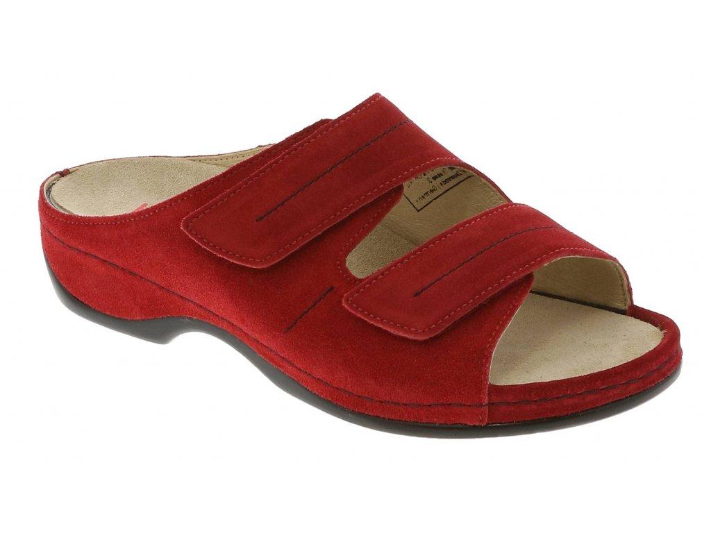 FEDORA zdravotní pratelná pantofle dámská červená Berkemann a