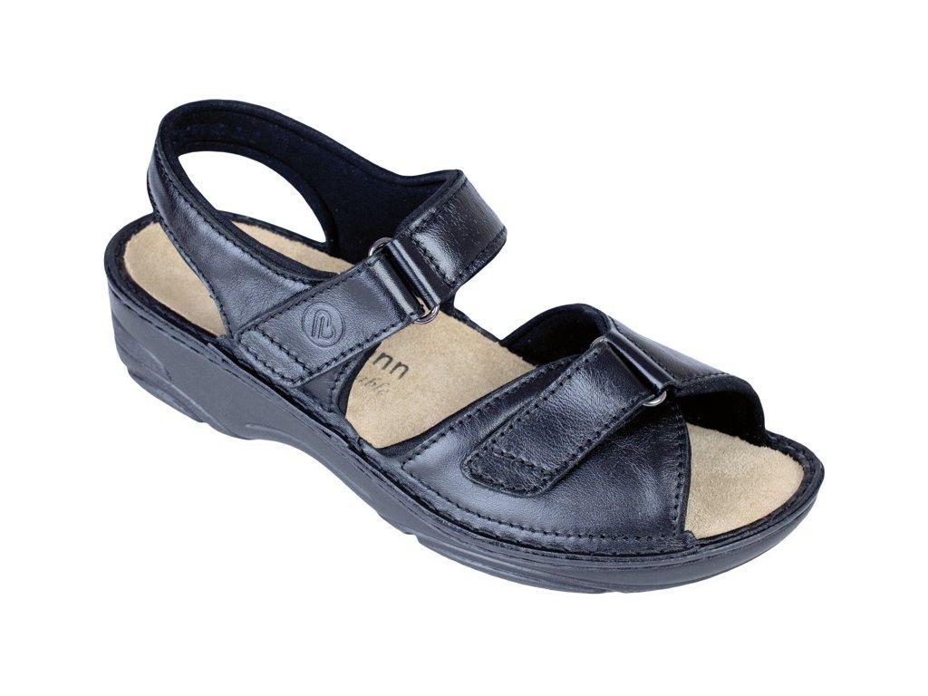 FABIENNE zdravotní pratelný sandálek dámský černý Berkemann