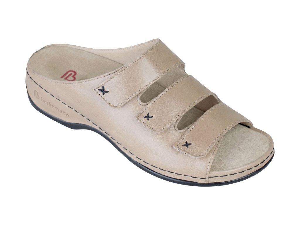 FRANZISKA zdravotní pantofle dámská taupe Berkemann