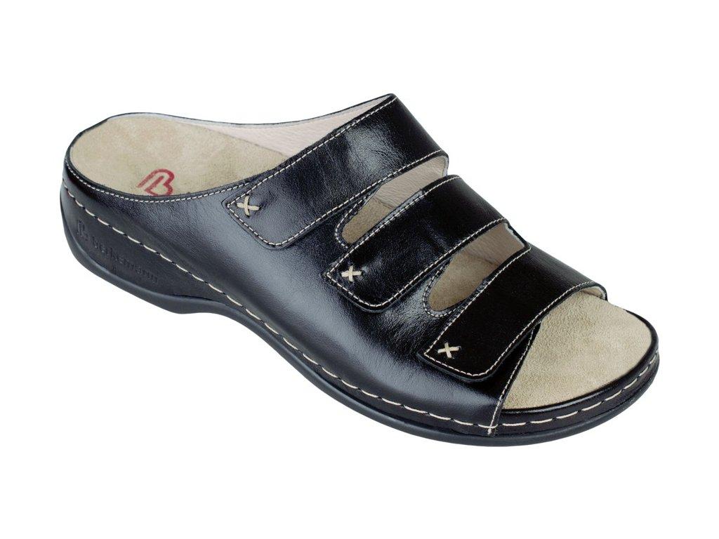 FRANZISKA zdravotní pantofle dámská černá Berkemann