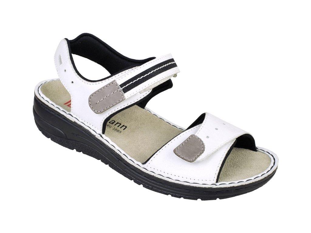 LENI zdravotní sandálek dámský bílý Berkemann