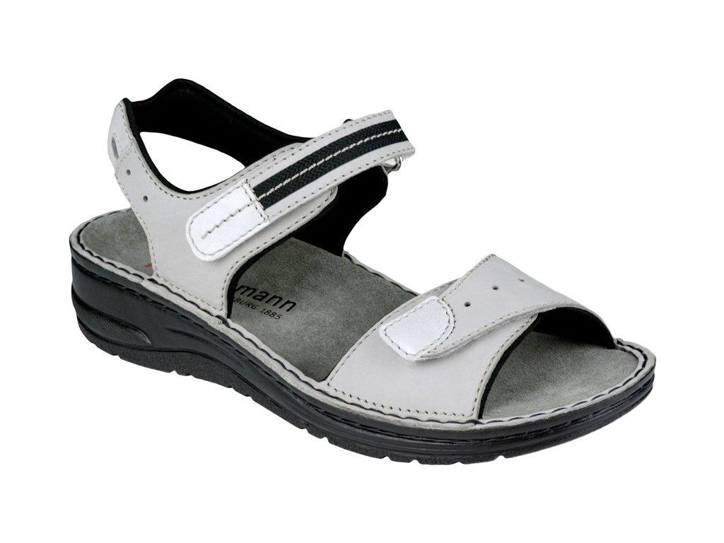 LENI zdravotní sandálek dámský šedý Berkemann