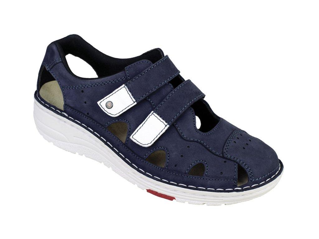 LARENA zdravotní sandálek dámský modrý Berkemann