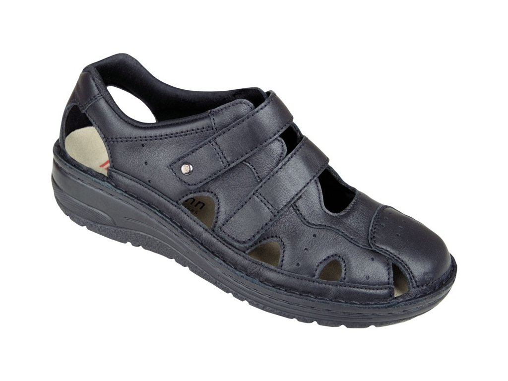 LARENA zdravotní sandálek dámský černý Berkemann