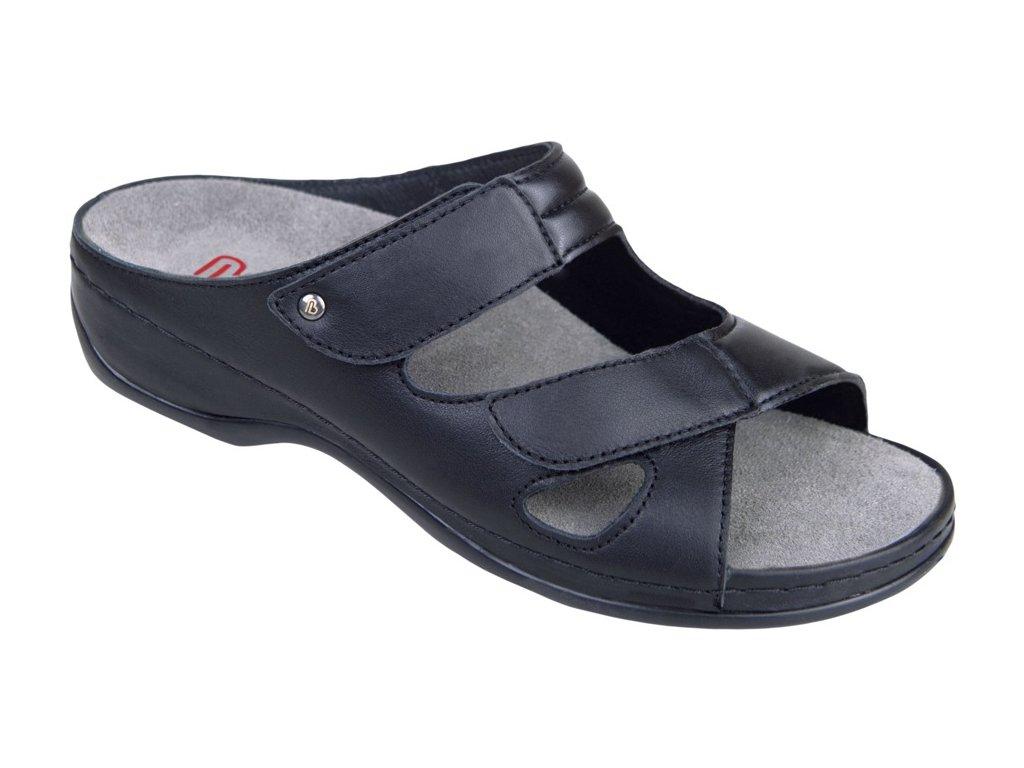 JANNA halluxový pantofel dámský černý Berkemann
