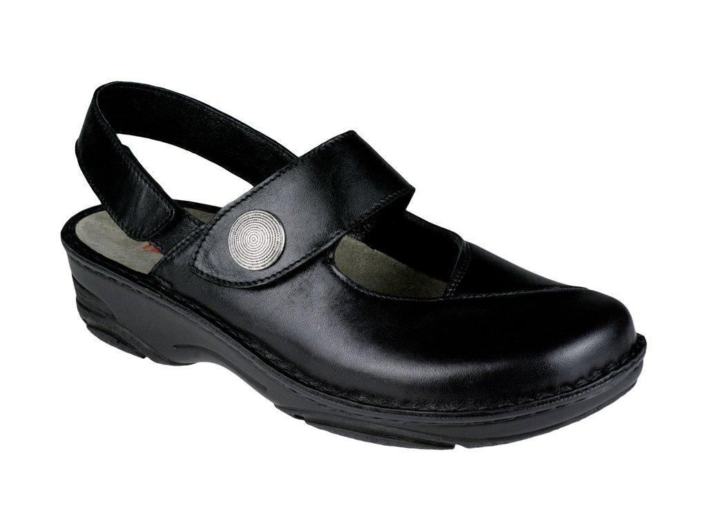 HELENE halluxový sandálek plná špice dámský černý Berkemann